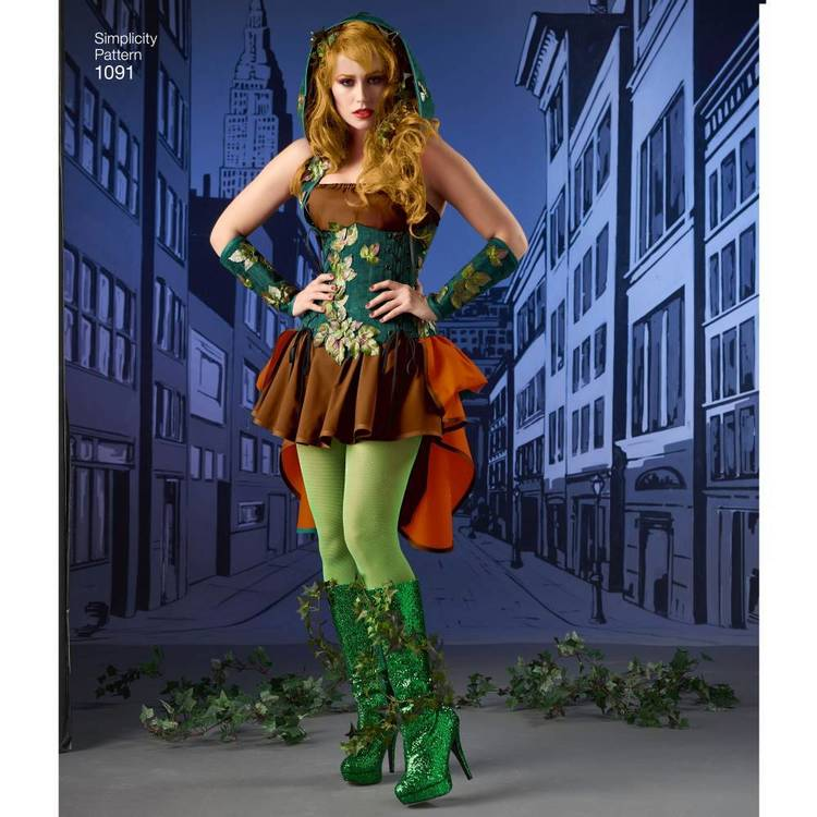 Simplicity Pattern 1091 Misses' Super Villainess Costume
