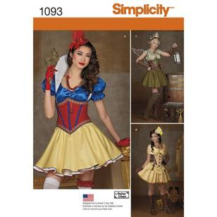 Simplicity 1093 Misses' Cosplay Costumes