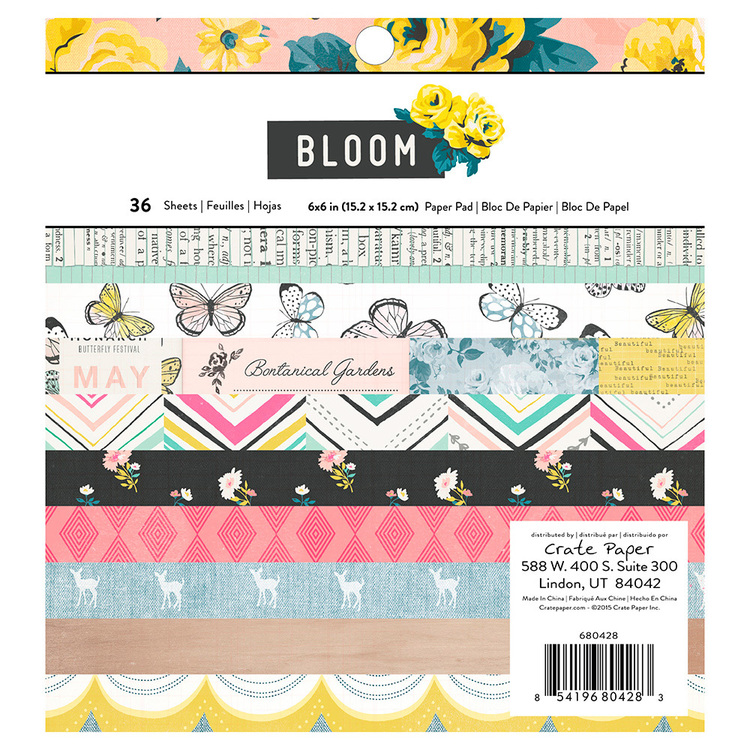 American Crafts Crate Paper Maggie Holmes Bloom Paper Pad 36 Sheets