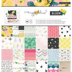 American Crafts Crate Paper Maggie Holmes Bloom Paper Pad 48 Sheets