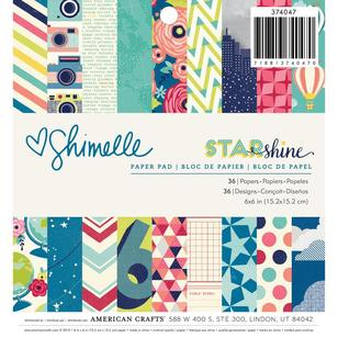 American Crafts Shimelle Star Shine Paper Pad 36 Sheets