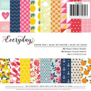 American Crafts Pebbles Everyday Paper Pad 36 Page