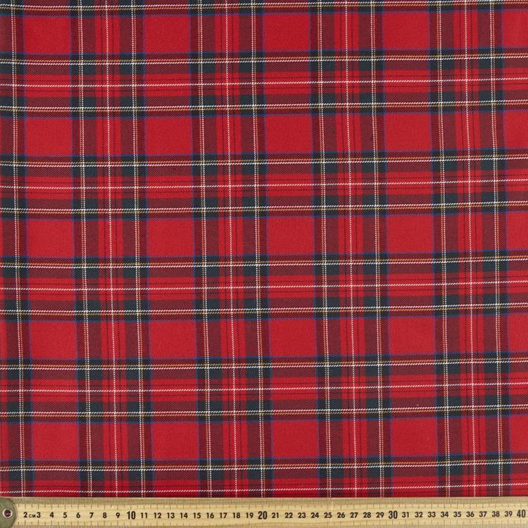 Tartan Polyester Viscose Fabric