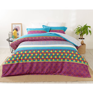 Logan & Mason Platinum Gypsy Jewel Quilt Cover Set