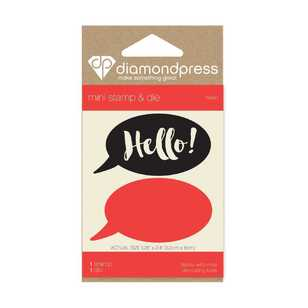Diamond Press 2 Hello Mini Stamp & Die