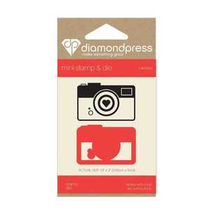 Diamond Press Camera Mini Stamp & Die