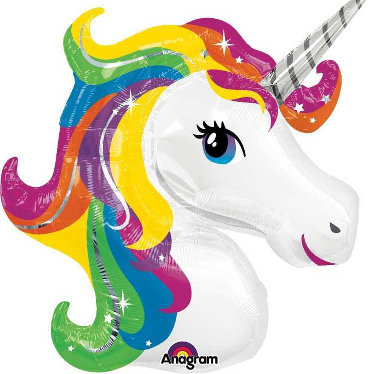 Amscan Unicorn Rainbow Foil Balloons