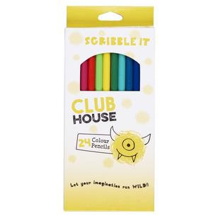 Club House Scribble It Colour Pencils 24 Pack