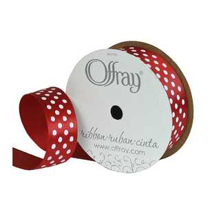 Offray Satin Dot Ribbon