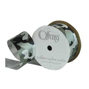 Offray Camo Single Face Satin Ribbon