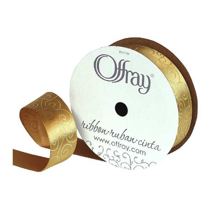 Offray Metallic Scroll Ribbon