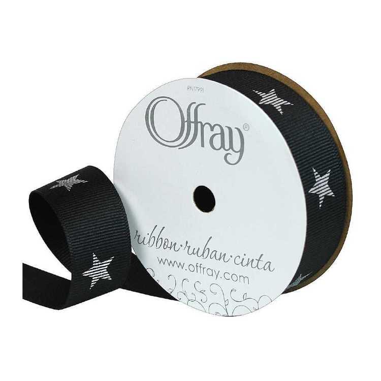 Offray Metallic Star Ribbon