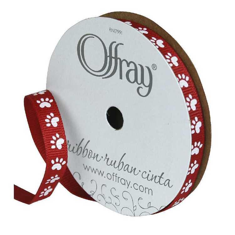 Offray Grosgrain Paw Ribbon