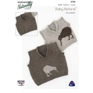 Naturally Baby Naturals 4 Ply K730 Yarn Book