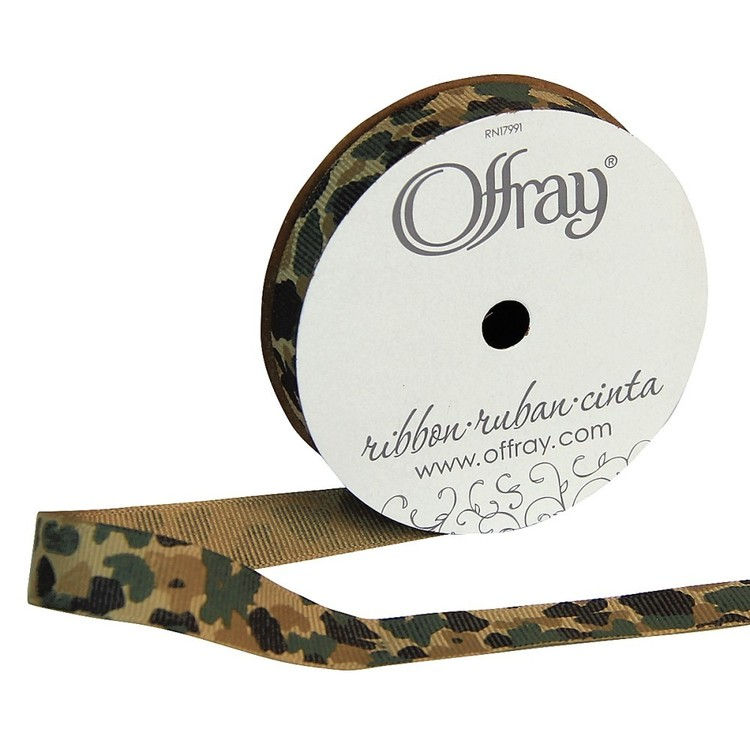 Offray Camouflage Grosgrain Ribbon