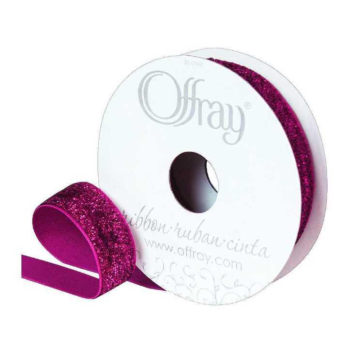 Offray Metallic Velvet Ribbon