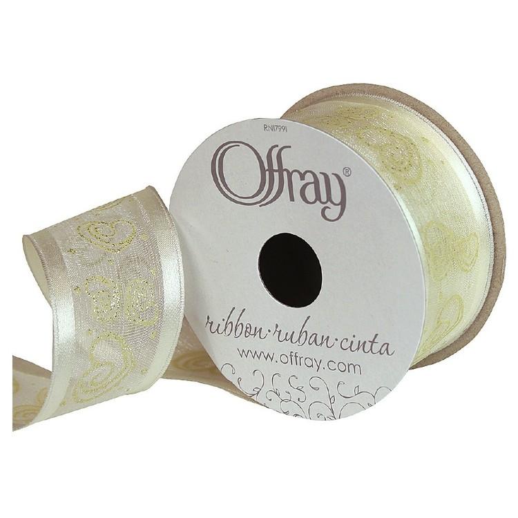 Offray Swirl Heart Ribbon