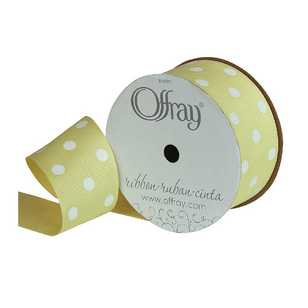 Offray Grosgrain Polka Dot Ribbon