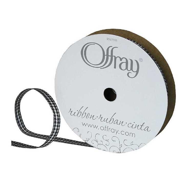 Offray Micro Check Ribbon