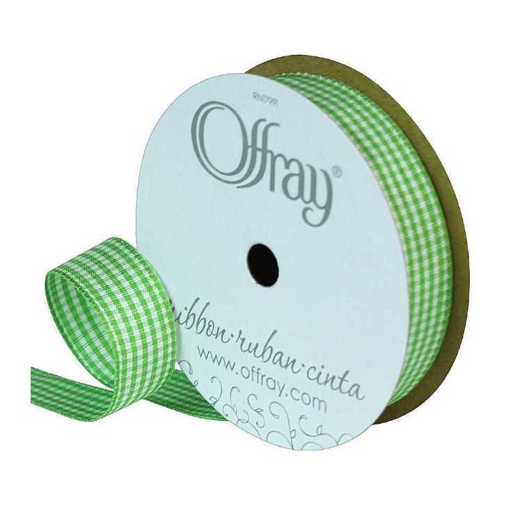 Offray Micro Check 16 mm Ribbon