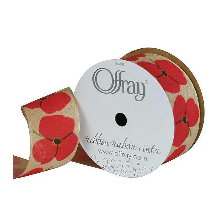 Offray Poppy Flower Ribbon