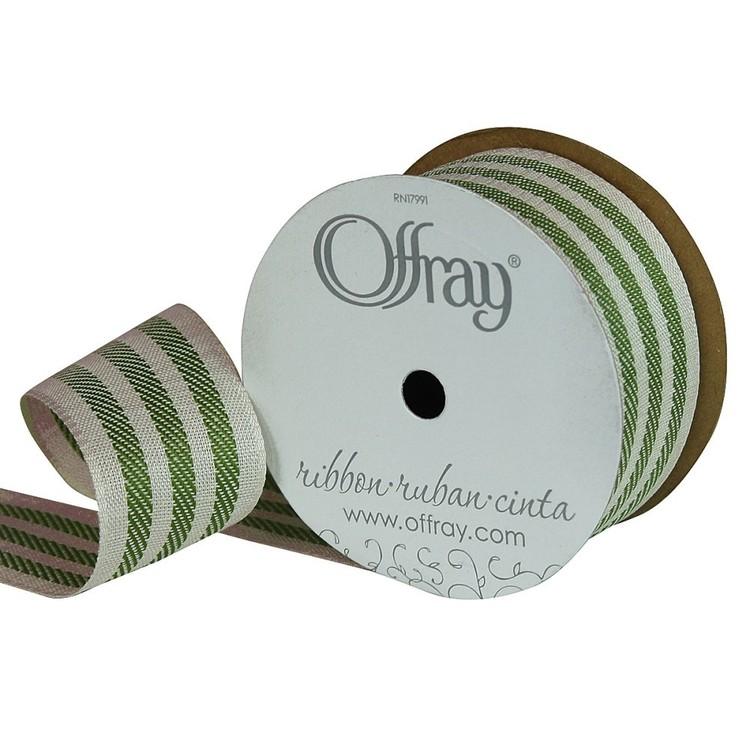 Offray Natural Stripes Ribbon