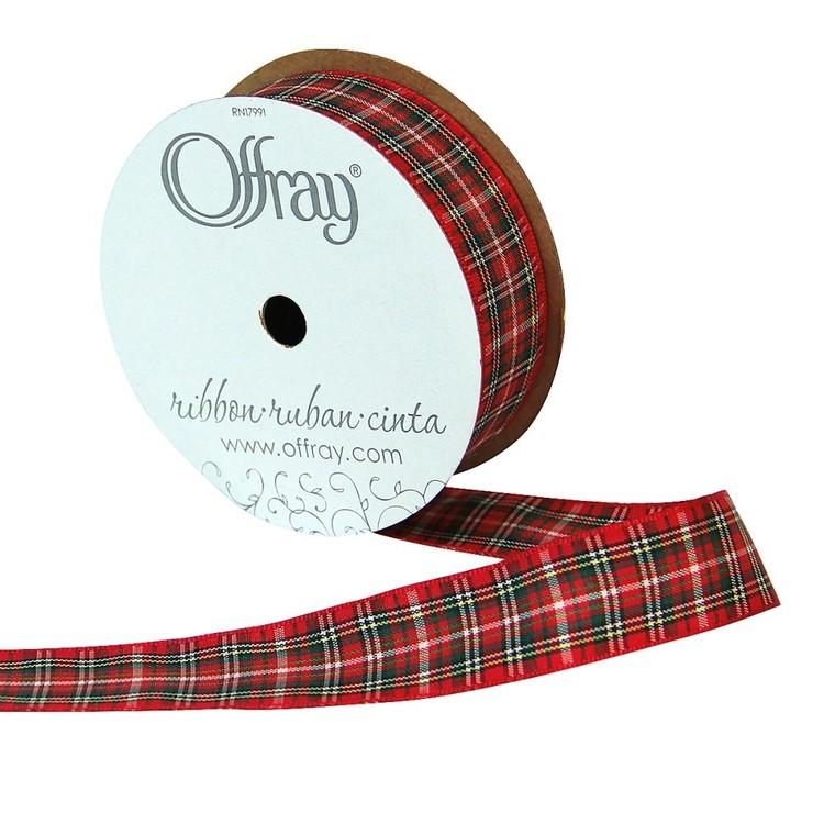 Offray Fashion Plaid Ribbon