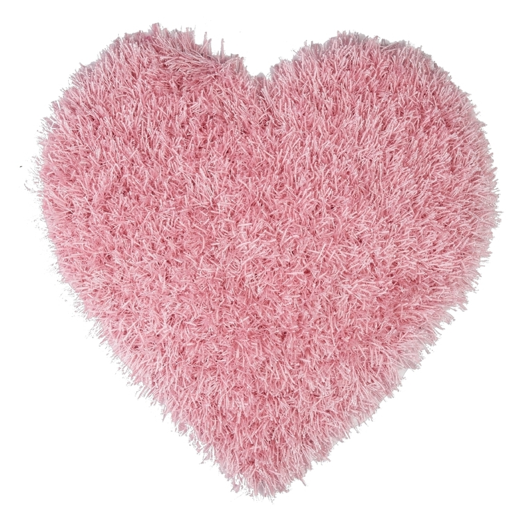 Kids House Glitter Heart Rug