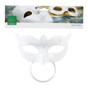 Shamrock Craft White Half Mask With Scallop
