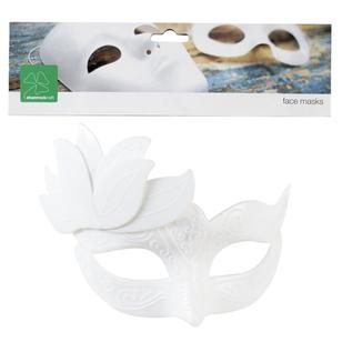 Shamrock Craft White Half Mask With Spray And Scroll Detail