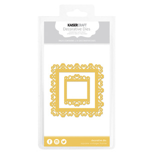 Kaisercraft Square Vintage Frame Decorative Die