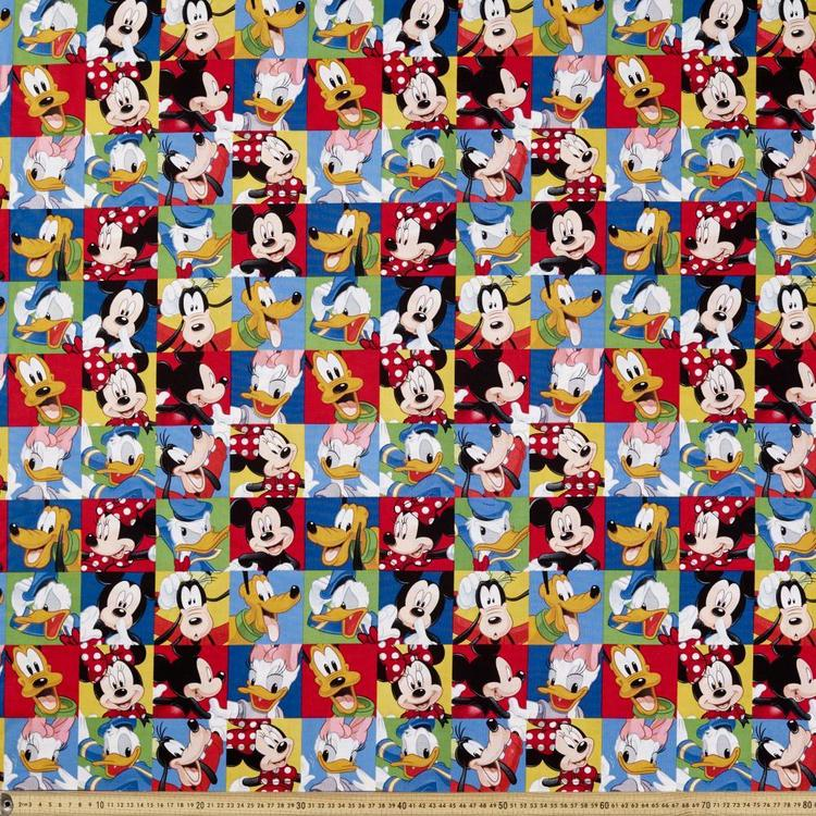 Disney Mickey Mouse All The Gang Fabric