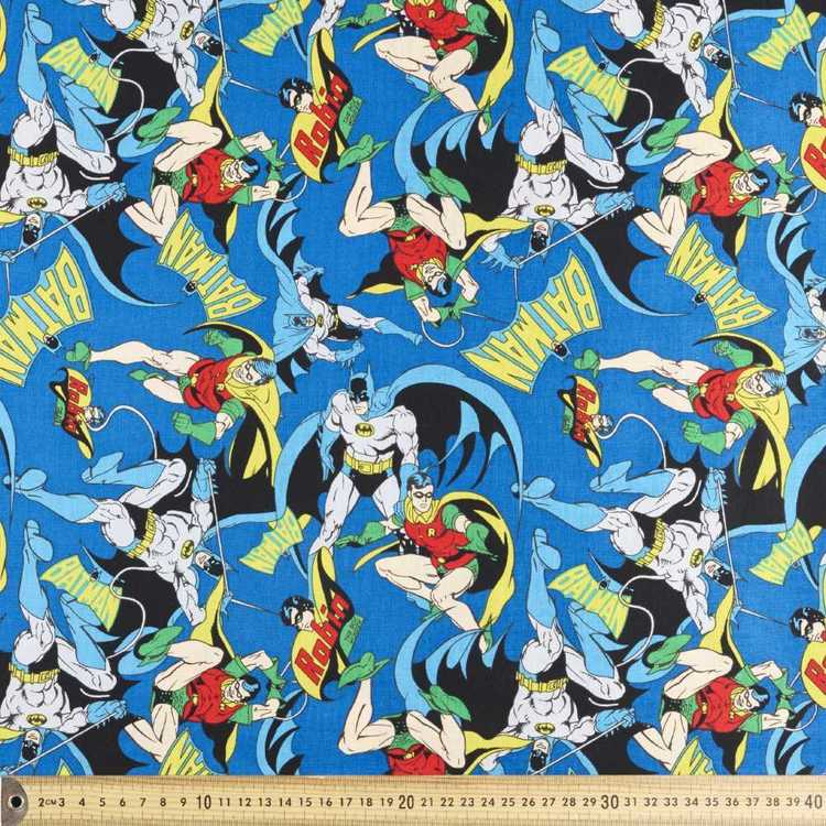 Batman & Robin Allover Fabric