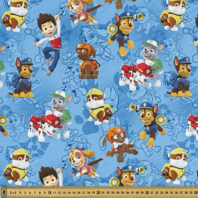 Paw Patrol Allover Fabric