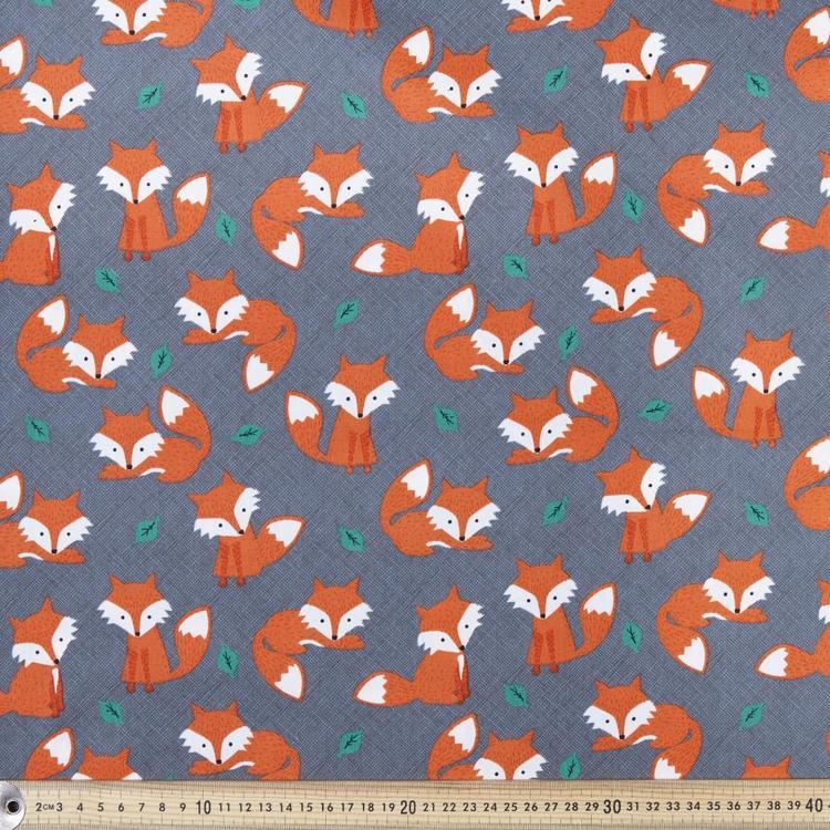 Foxes Printed Poplin