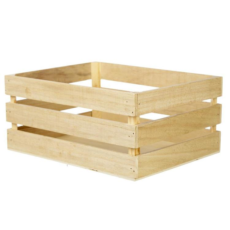 Francheville Wood Crate Storage Box