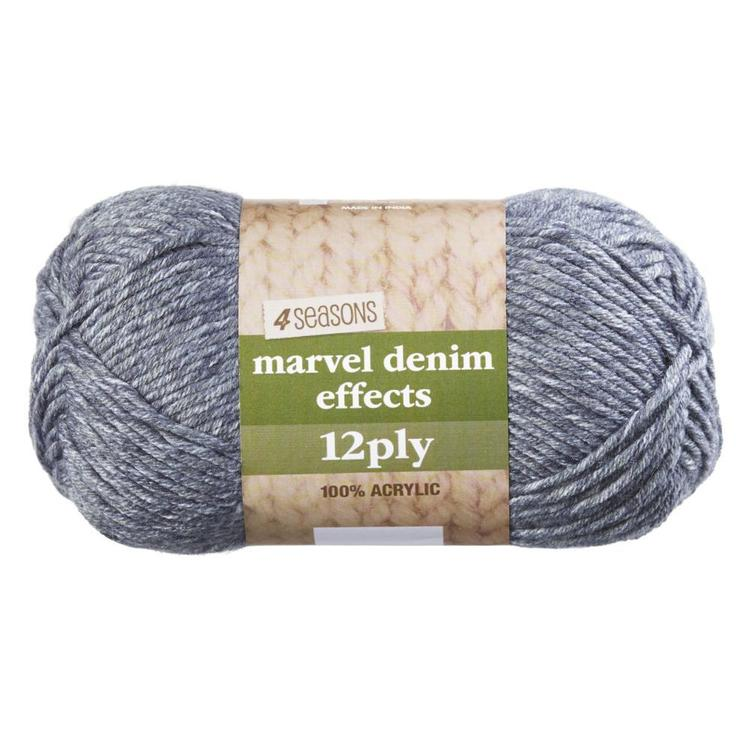 4 Seasons Marvel Denim Effects Printed 12 Ply Acrylic Yarn