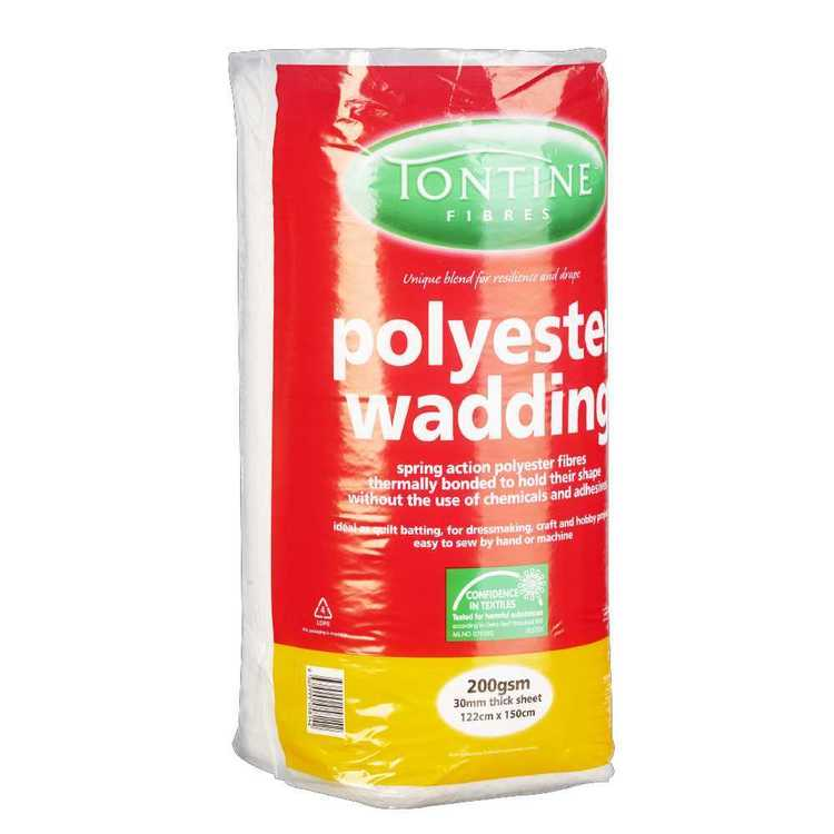 Tontine Pre-Packed Wadding 200g White 122 x 150 cm