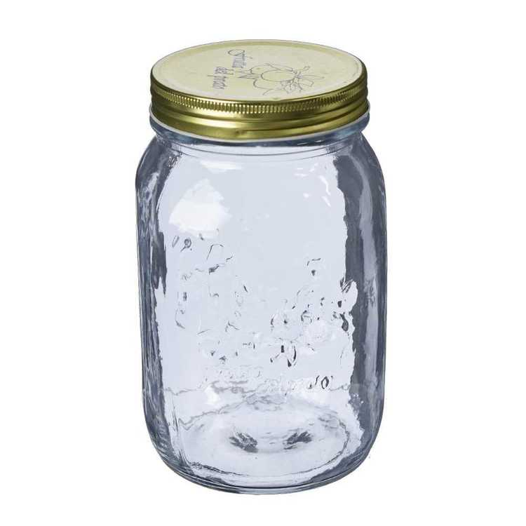 Kate's Kitchen Embossed Screw Top Preserve Jar Clear