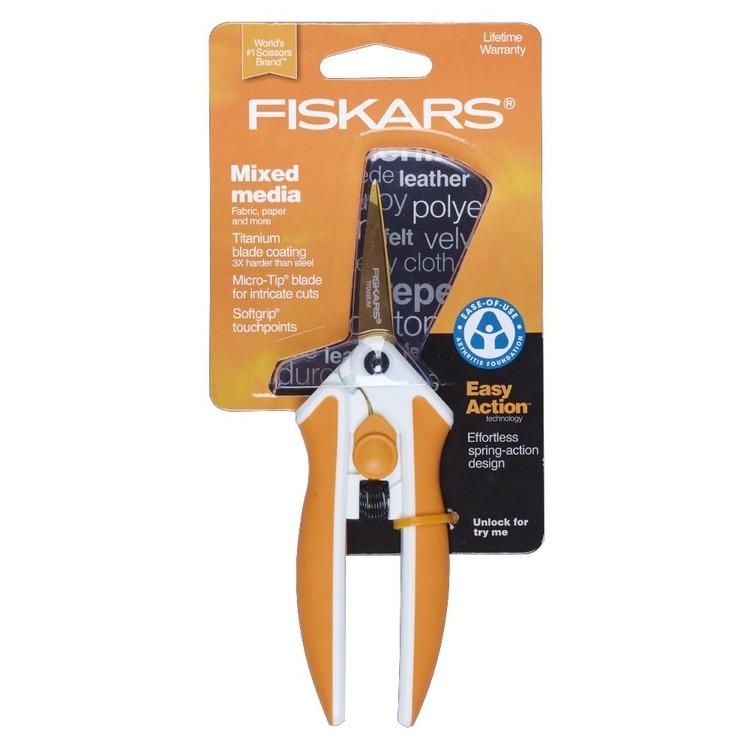 Fiskars Easy Act Titanium Micro-Tip Scissors