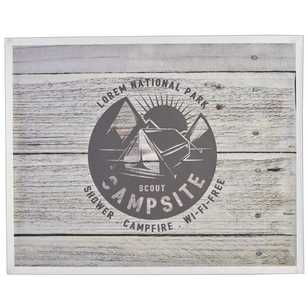 Living Space Campsite Sign Canvas