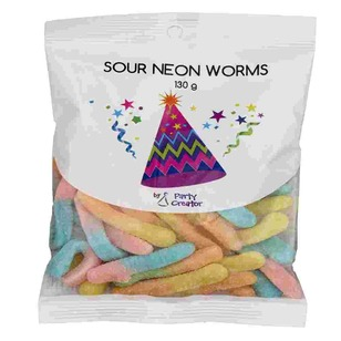 Party Creator Sour Neon Worms - Everyday Bargain