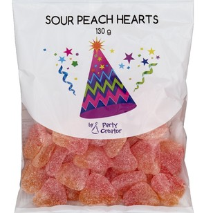 Party Creator Sour Peach Hearts - Everyday Bargain