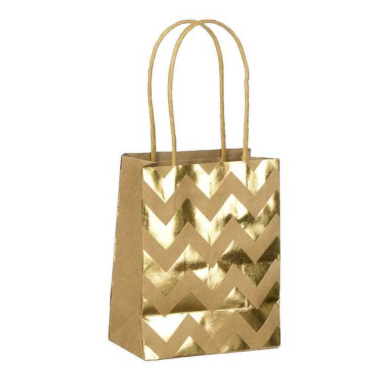 Artwrap Small Chevron Foil Kraft Bag