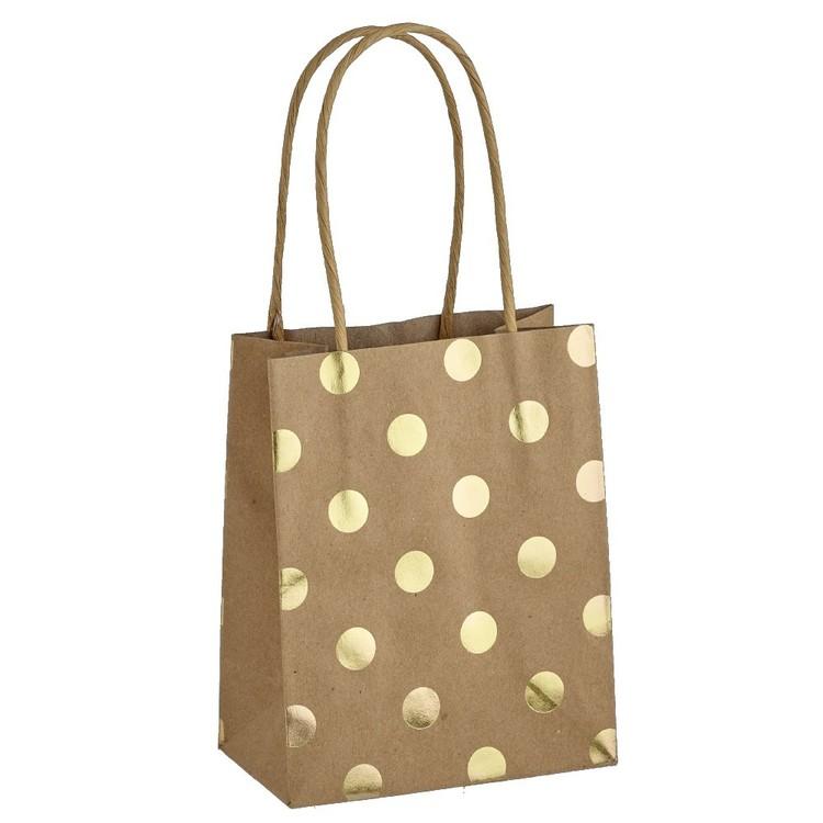 Artwrap Small Spots Foil Kraft Bag