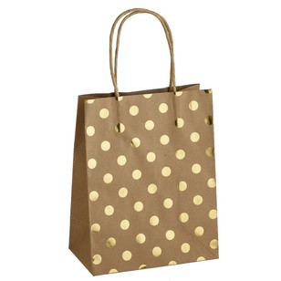 Artwrap Medium Spots Foil Kraft Bag
