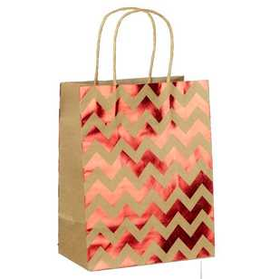 Artwrap Medium Chevron Foil Kraft Bag