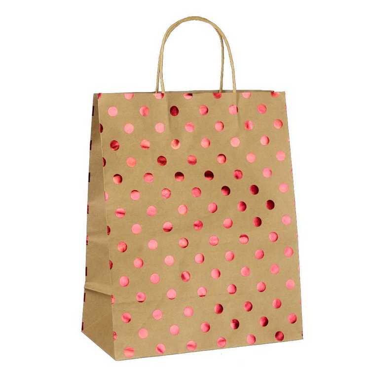 Artwrap Large Foil Spots Kraft Bag