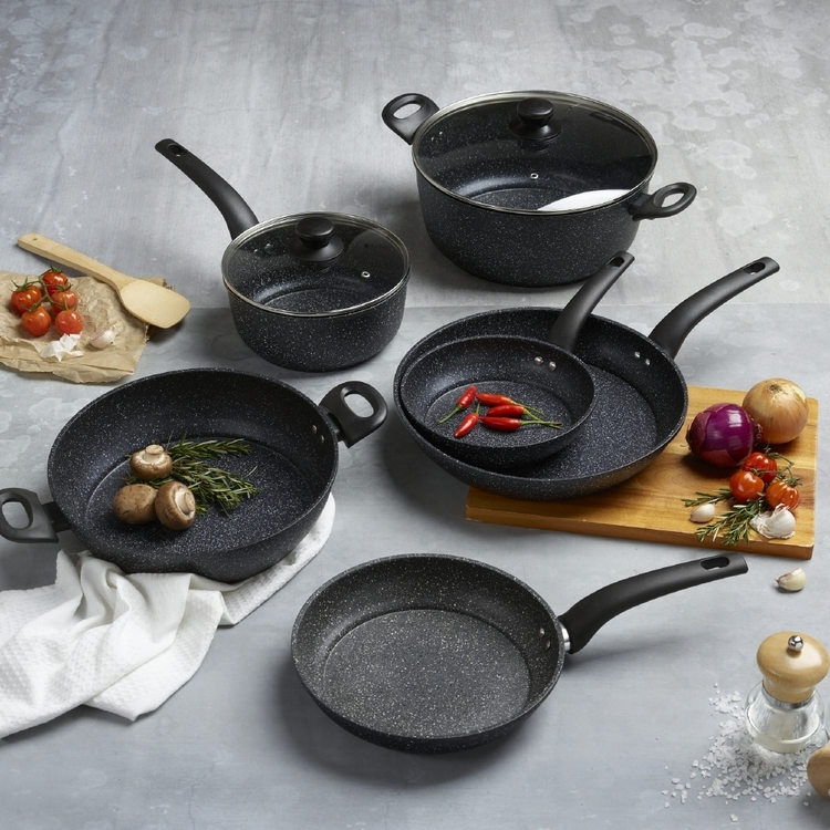 Equip Marble Frypan Grey