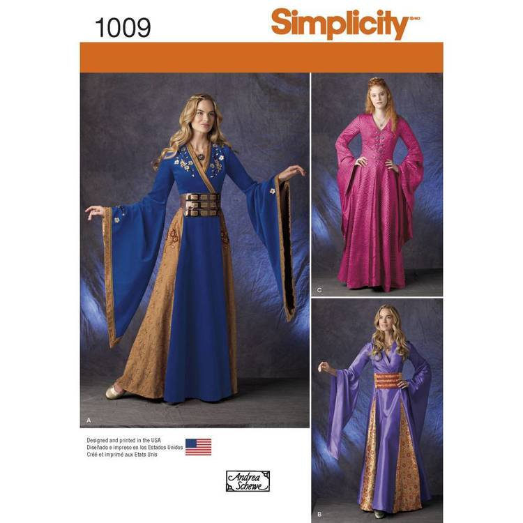 Simplicity Pattern 1009 Misses' Fantasy Costume